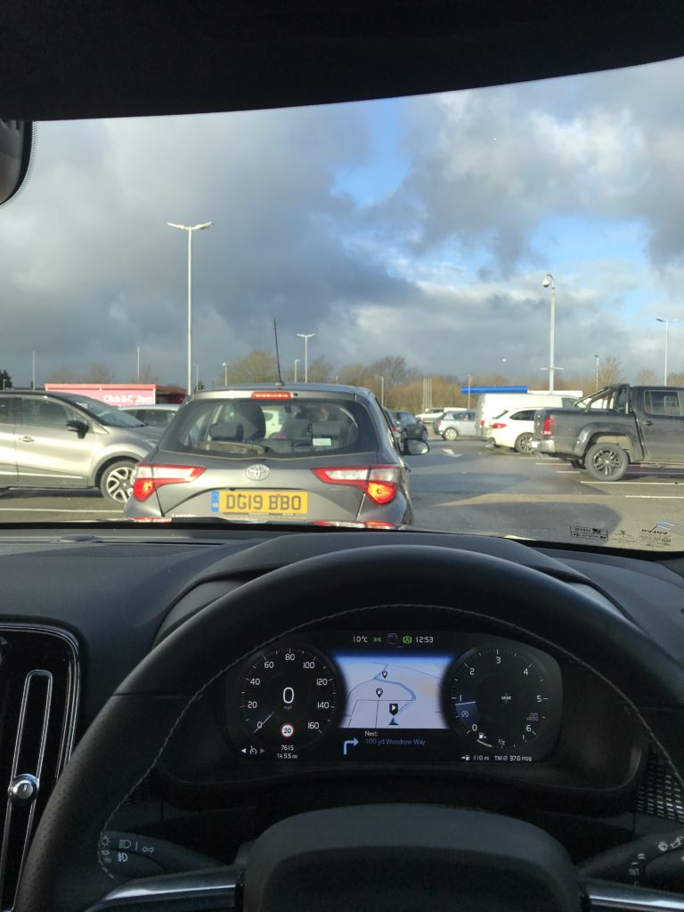 Tesco Car Park Queue