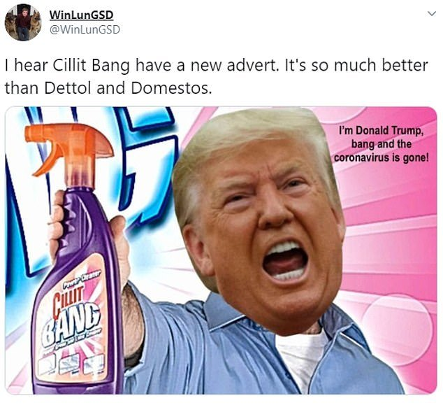 Donald Trump Cillit Bang Coronavirus